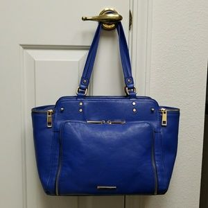 Handbags - MEDIUM Royal Blue Purse Shoulder Tote Bag trapeze